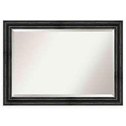 Amanti Art Rustic Black Pine 41-Inch x 29-Inch Framed Wall Mirror