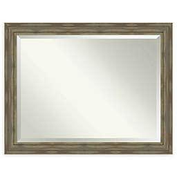 Amanti Art Alexandria Greywash 46-Inch x 36-Inch Framed Wall Mirror
