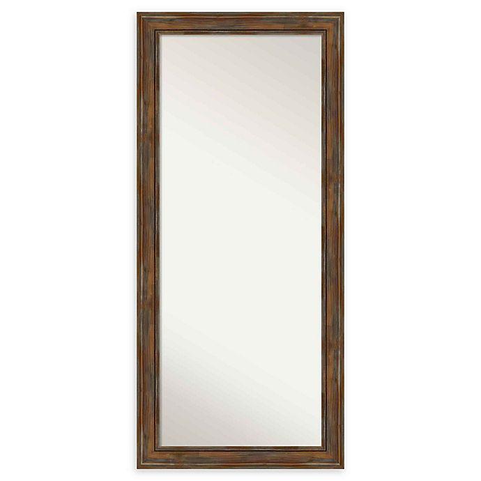 Alternate image 1 for Amanti Art Rustic Alexandria Framed Floor/Leaner Mirror