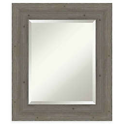 Amanti Art Fencepost Grey Framed Wall Mirror
