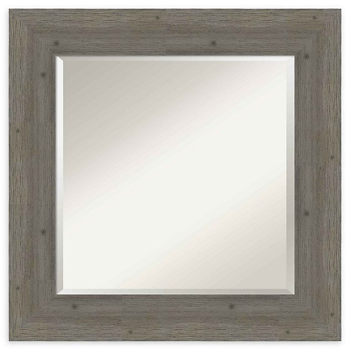 Alternate image 1 for Amanti Art Fencepost Grey Square 27-Inch Framed Wall Mirror