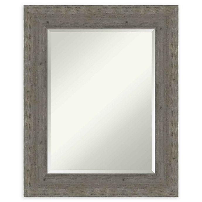 Alternate image 1 for Amanti Art Fencepost Grey 25-Inch x 31-Inch Framed Wall Mirror