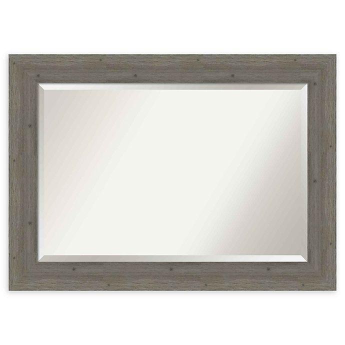 Alternate image 1 for Amanti Art Fencepost Grey 43-Inch x 31-Inch Framed Wall Mirror