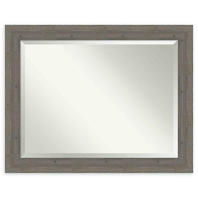 Alternate image 1 for Amanti Art Fencepost Grey 47-Inch x 37-Inch Framed Wall Mirror