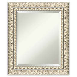 Amanti Art Fair Baroque Cream Framed Wall Mirror