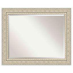Amanti Art Fair Baroque Cream 34-Inch x 28-Inch Framed Wall Mirror