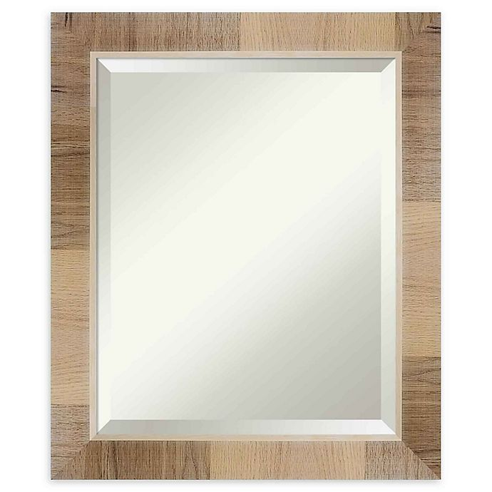 Alternate image 1 for Amanti Art Natural White Wash Framed Wall Mirror