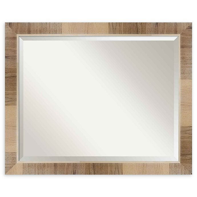Alternate image 1 for Amanti Art Natural White Wash 32-Inch x 26-Inch Framed Wall Mirror