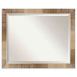 Amanti Art Natural White Wash 32-Inch x 26-Inch Framed Wall Mirror