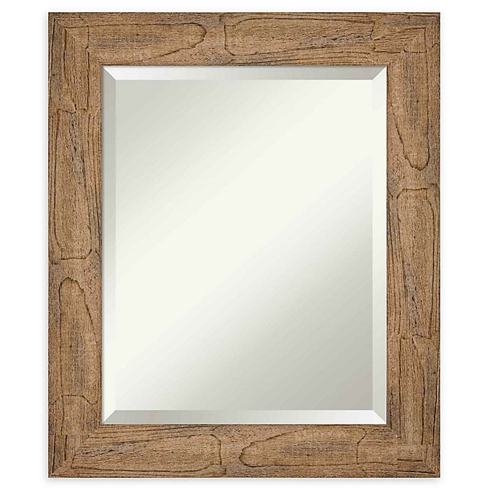 Alternate image 1 for Amanti Art Owl Brown Framed Wall Mirror