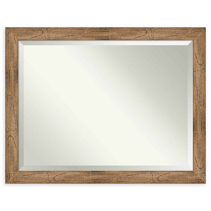 Alternate image 1 for Amanti Art Owl Brown 45-Inch x 35-Inch Framed Wall Mirror