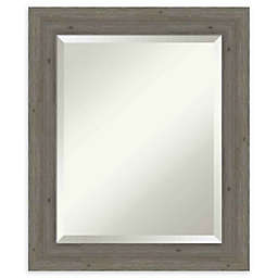 Amanti Art Narrow Fencepost Grey Framed Wall Mirror