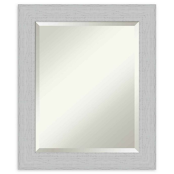 Alternate image 1 for Amanti Art Shiplap White Framed Wall Mirror