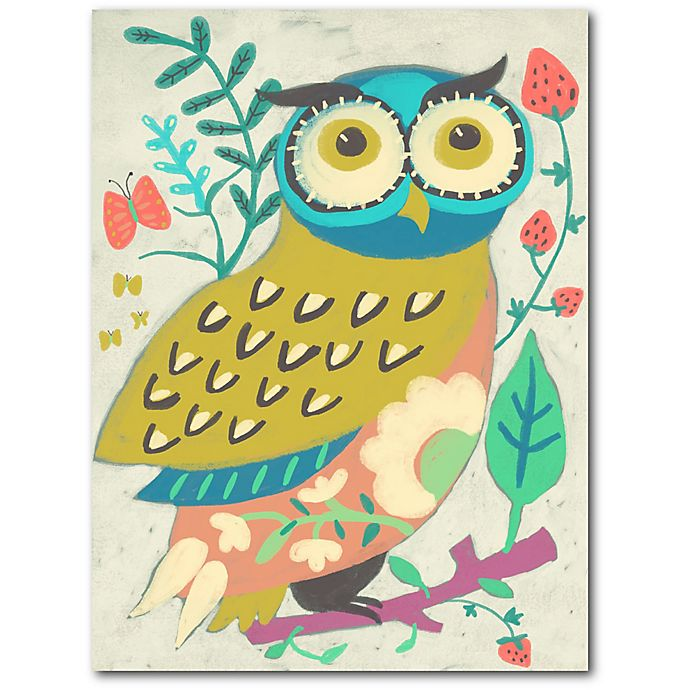 Alternate image 1 for Courtside Market™ Colorful Owl 24-Inch x 18-Inch Framed Wrapped Canvas Wall Art
