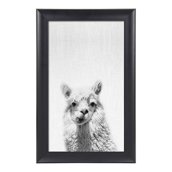 Alternate image 1 for Kate and Laurel® Scoop Alpaca 18-Inch x 28-Inch Framed Canvas Wall Art