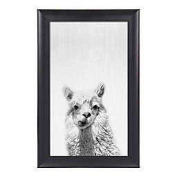 Kate and Laurel® Scoop Alpaca 18-Inch x 28-Inch Framed Canvas Wall Art