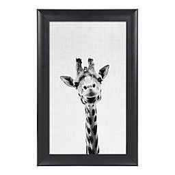 Kate And Laurel Scoop Giraffe 17.75-Inch x 27.75-Inch Framed Wall Art