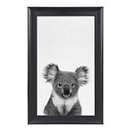 Kate And Laurel Scoop Koala 17.75-Inch x 27.75-Inch Framed Wall Art