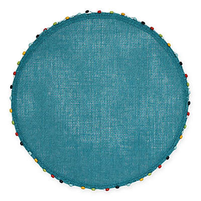 Destination Summer Lindos Round Placemat with Beaded Trim
