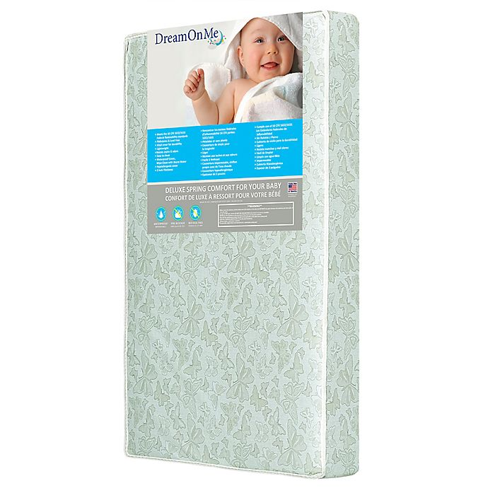 Alternate image 1 for Dream On Me Little Butterflies 6-Inch Breathable Foam Core Crib and Toddler Bed Mattress in Blue