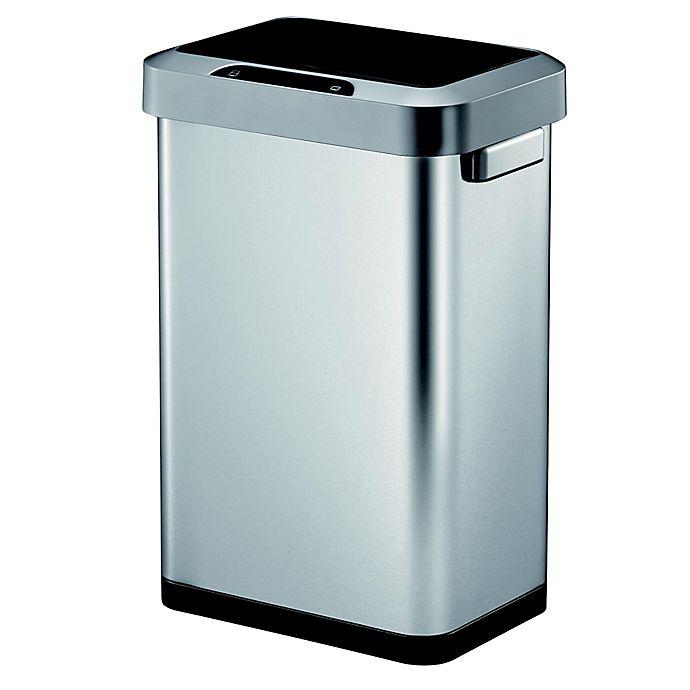 Alternate image 1 for Eko® Horizon Stainless Steel 45-Liter Motion Sensor Trash Can