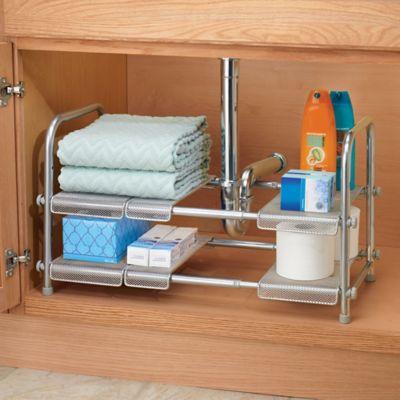 Idesign 174 Cabrini Under Sink Organizer Shelf In Silver