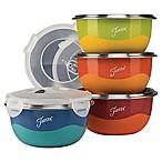 Fiesta® 8-Piece Multicolor Stainless Steel 0.75 qt. Prep Bowls with Lids Set