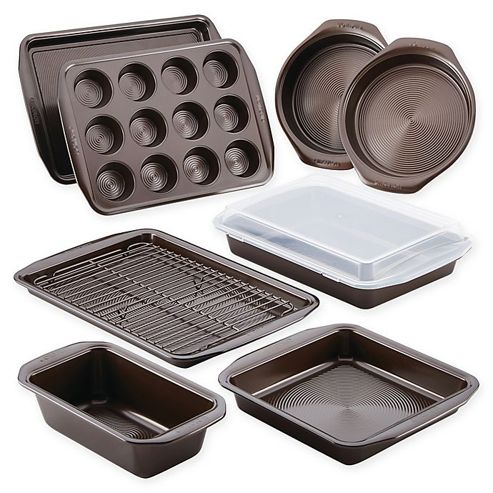 Alternate image 1 for Circulon® Total Nonstick 10-Piece Bakeware Set in Chocolate
