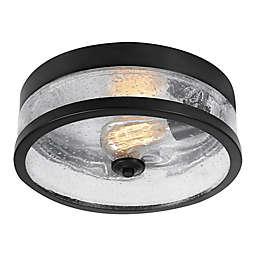 Globe Electric Flush Mount Ceiling Light in Dark Bronze