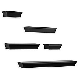 Wall Solutions 5-Piece Gallery Shelf Set