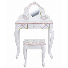 Fantasy Fields Swan Lake 2-Piece Vanity Set