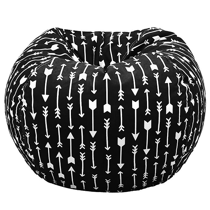 Astonishing Acessentials Paris Bean Bag Chair In Black White Buybuy Baby Squirreltailoven Fun Painted Chair Ideas Images Squirreltailovenorg