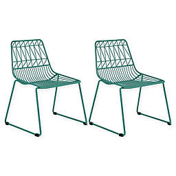 Acessentials® Wire Activity Chairs in Teal (Set of 2)