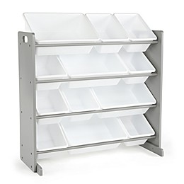 Humble Crew Inspire 12-Bin Organizer in Grey and White