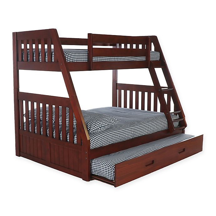 Alternate image 1 for Discovery World Furniture™ Twin/Full Bunk Bed with Trundle