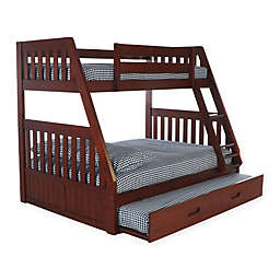 Discovery World Furniture™ Twin/Full Bunk Bed with Trundle