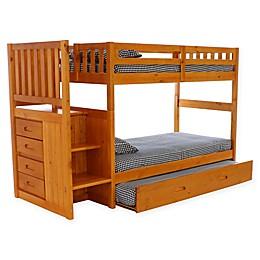 Discovery World Furniture™ Stair Stepper Bunk Bed with Trundle