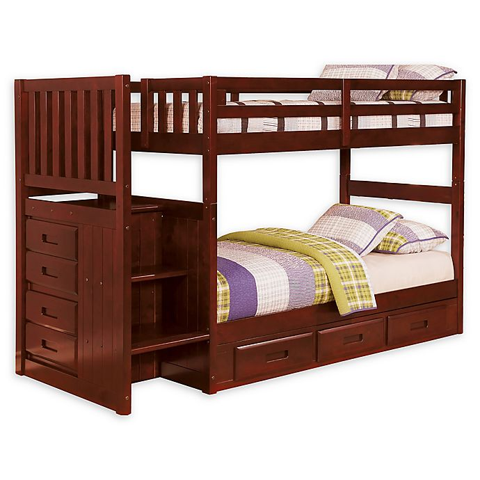 Alternate image 1 for Discovery World Furniture™ Stair Stepper Bunk Bed with Drawers