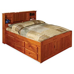 Discovery World Furniture™ Bookcase Captain's Bed with 12 Drawers