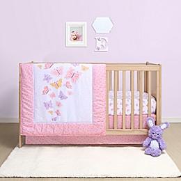 Belle Butterfly 4-Piece Crib Bedding Set
