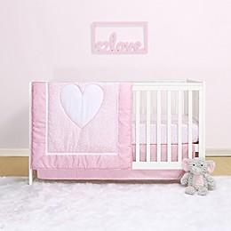 Belle Hearts 4-Piece Crib Bedding Set