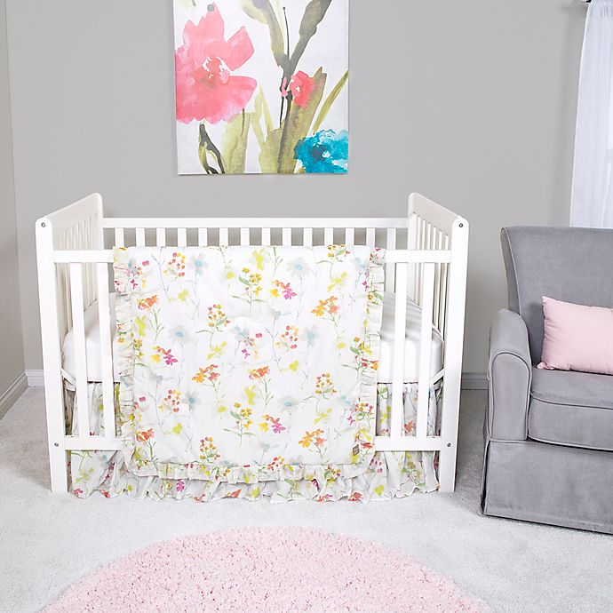 Alternate image 1 for Trend Lab® Wildflowers 3-Piece Crib Bedding Set
