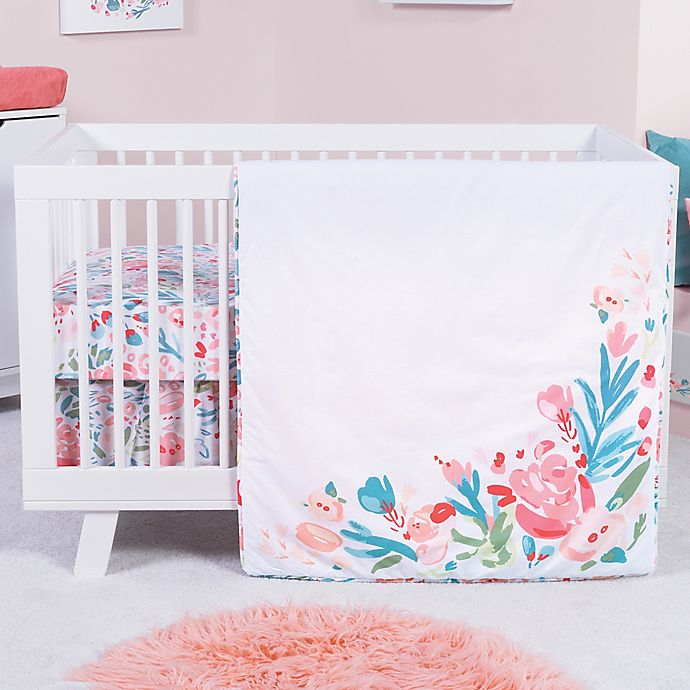 Alternate image 1 for Trend Lab® Painterly Floral 3-Piece Crib Bedding Set