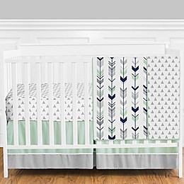 Sweet Jojo Designs® Mod Arrow 4-Piece Crib Bedding Set in Grey/Blue