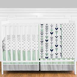 Sweet Jojo Designs® Mod Arrow 4-Piece Crib Bedding Set in Grey/Blue