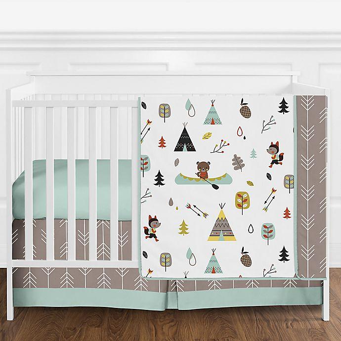 Alternate image 1 for Sweet Jojo Designs Outdoor Adventure 4-Piece Crib Bedding Set