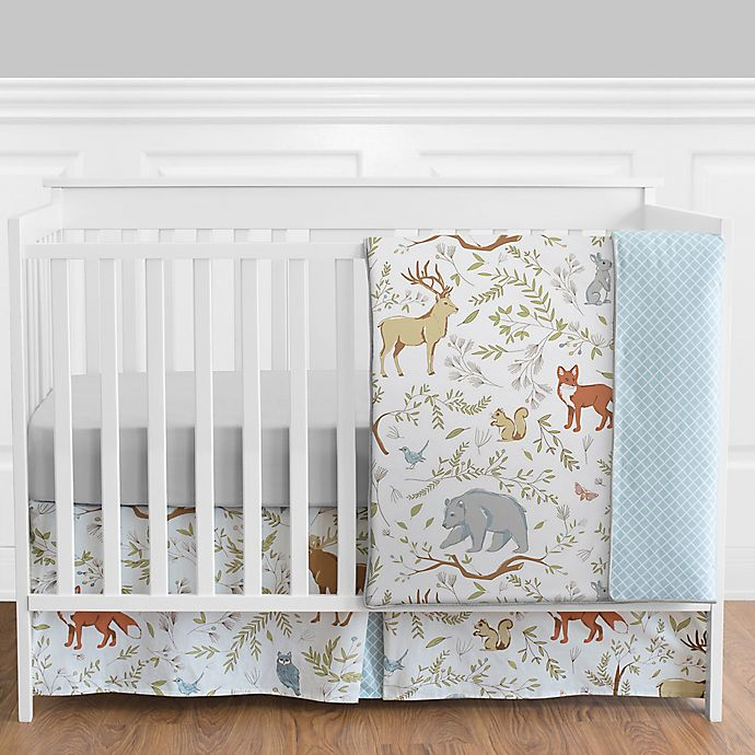 Alternate image 1 for Sweet Jojo Designs Woodland Toile 4-Piece Crib Bedding Set