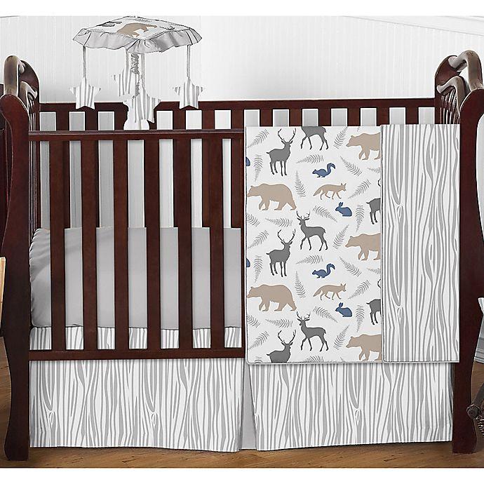 Sweet Jojo Designs Woodland Animals 4 Piece Crib Bedding Set