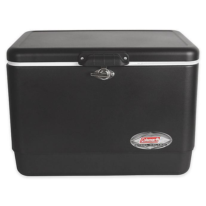Alternate image 1 for Coleman® 54 Qt. Steel-Belted Retro Cooler in Matte Black