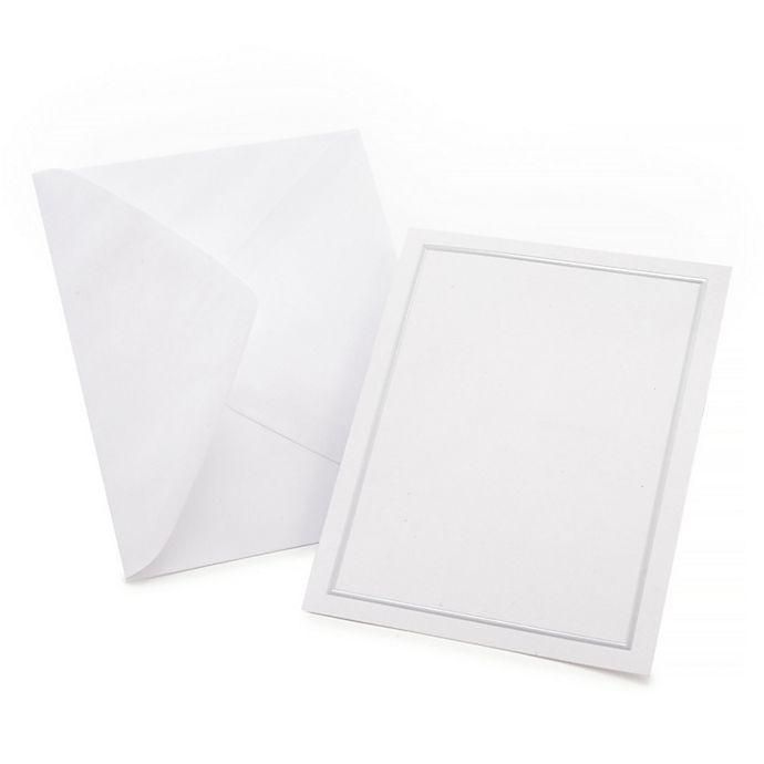 Alternate image 1 for Gartner Studios® 50-Count All-Purpose Card Kit in Platinum